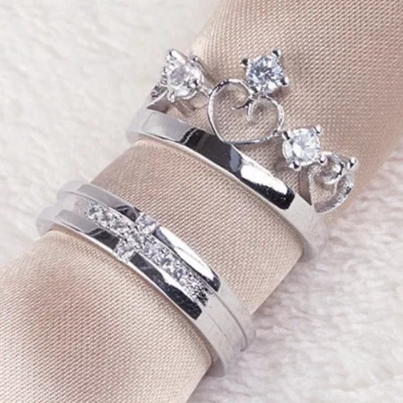 Cross Crown couple  Rings