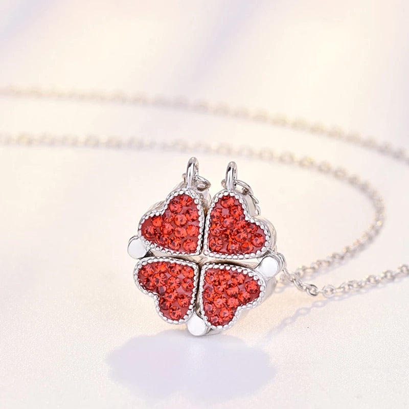 HEART CRYSTAL NECKLACE(Original silver)