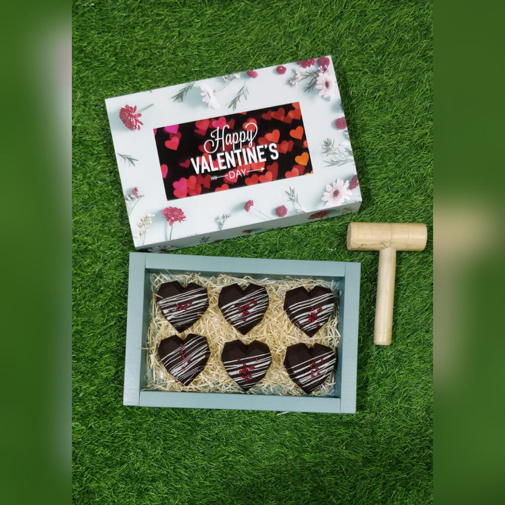 Heart Message chocolate with Hammer