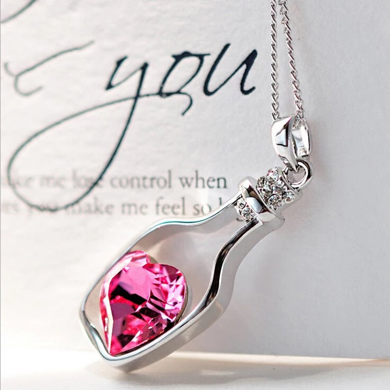 Heart In Bottle Necklace