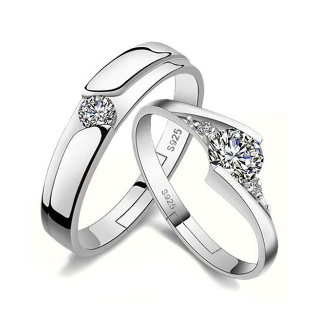 Crystal Lovers' Couple Rings