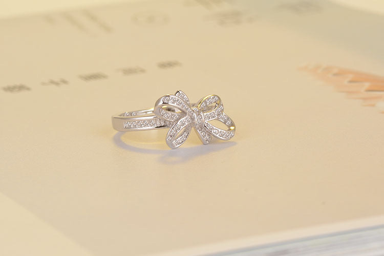 Sterling Silver Brilliant Bow Ring