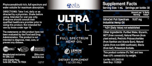 UltraCell Full Spectrum Hemp CBD Oil Lemon 1oz (30mL)