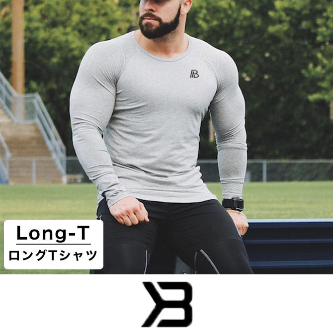 DoctorMuscle アウトレット ロングスリーブ グレー