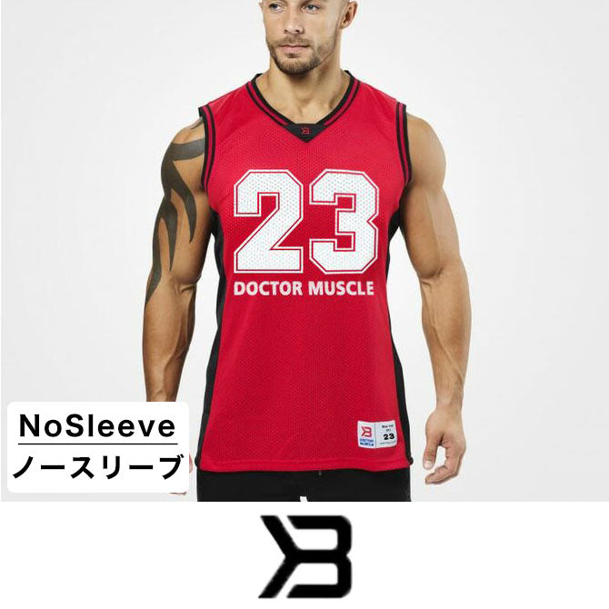 DoctorMuscle ノースリーブ レッド