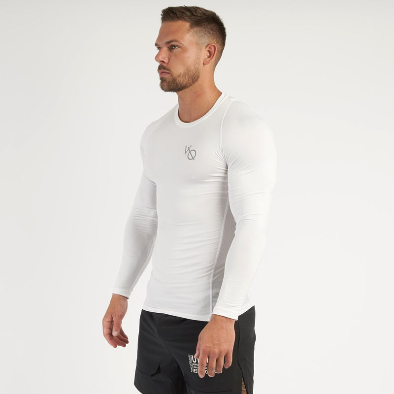 Vanquish Utility Men's White Long Sleeved Compression T Shirt 7枚目の画像