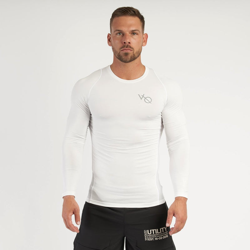 Vanquish Utility Men's White Long Sleeved Compression T Shirt 2枚目の画像