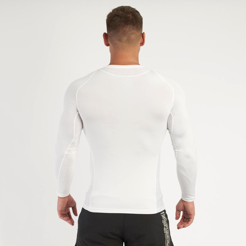 Vanquish Utility Men's White Long Sleeved Compression T Shirt 3枚目の画像