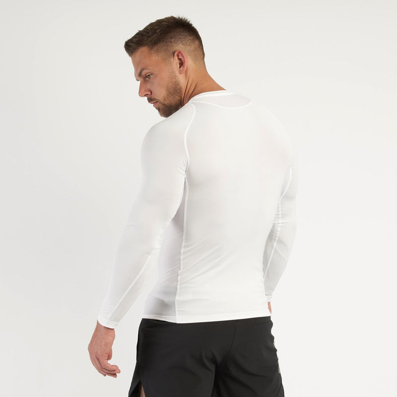 Vanquish Utility Men's White Long Sleeved Compression T Shirt 4枚目の画像