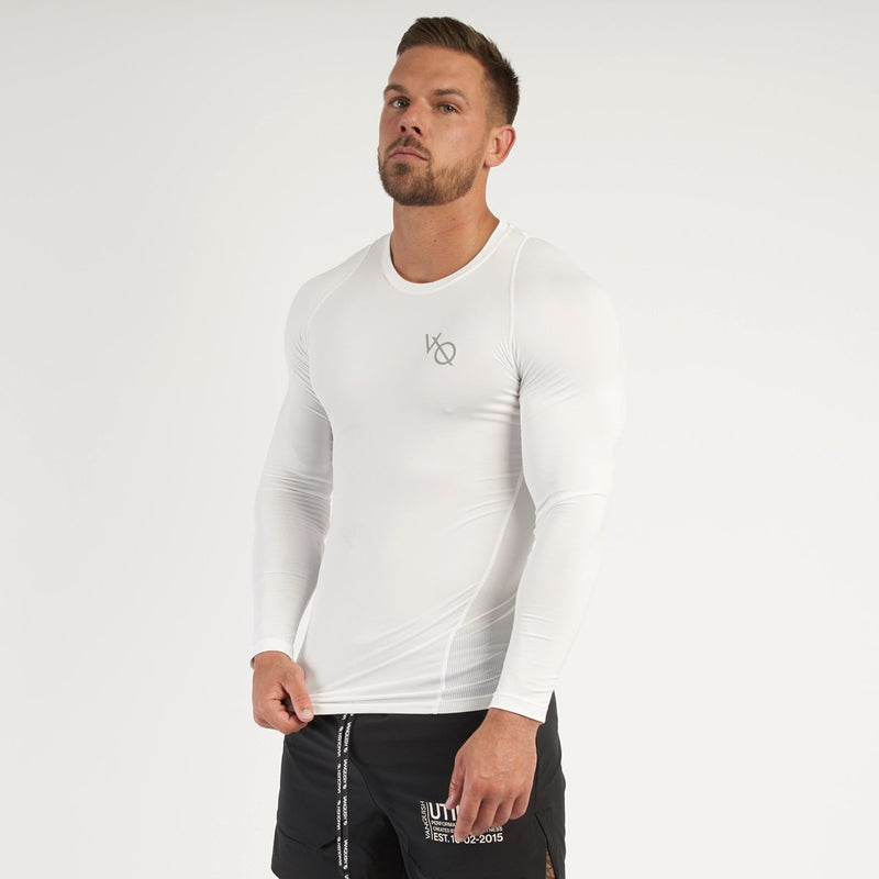 Vanquish Utility Men's White Long Sleeved Compression T Shirt 5枚目の画像