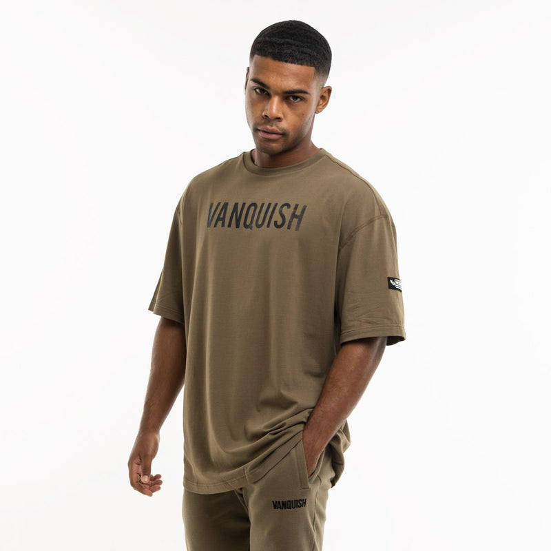 Vanquish Warm Up Project Olive Oversized Short Sleeve T Shirt 5枚目の画像