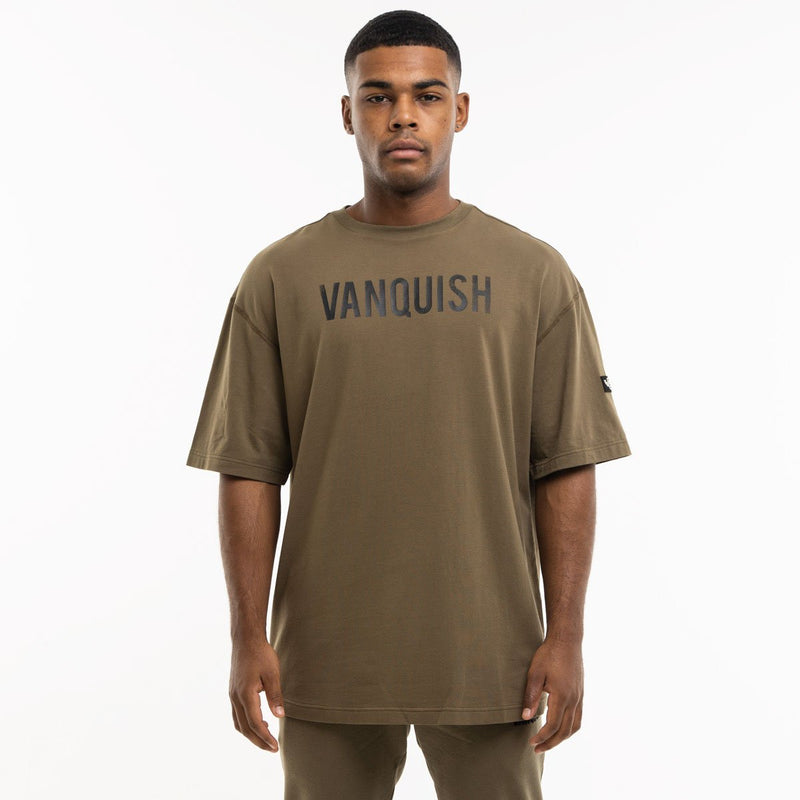 Vanquish Warm Up Project Olive Oversized Short Sleeve T Shirt 2枚目の画像
