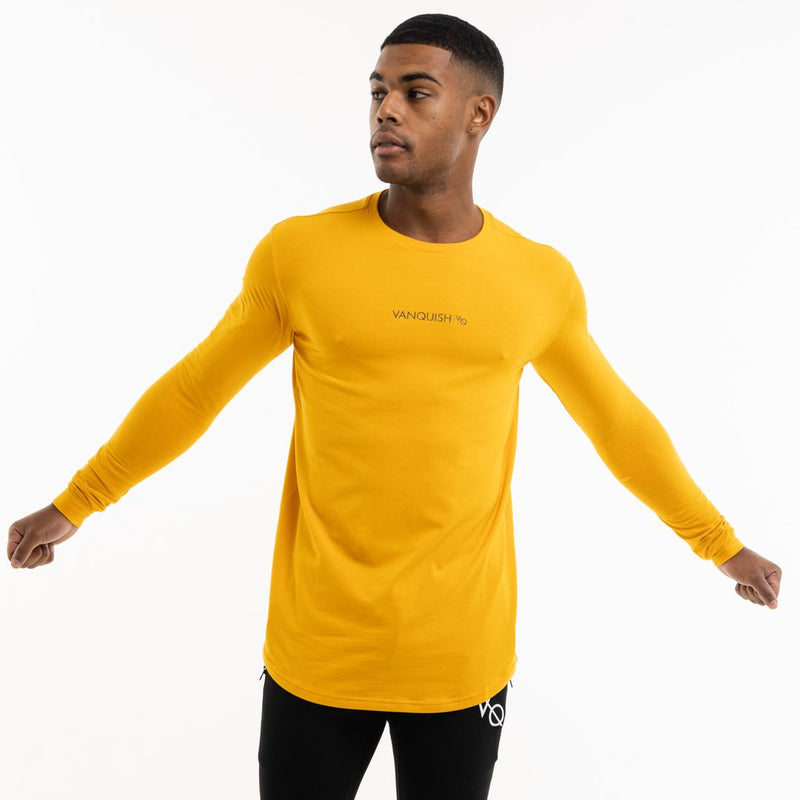 Vanquish Core Men's Yellow Long Sleeved T Shirt 2枚目の画像