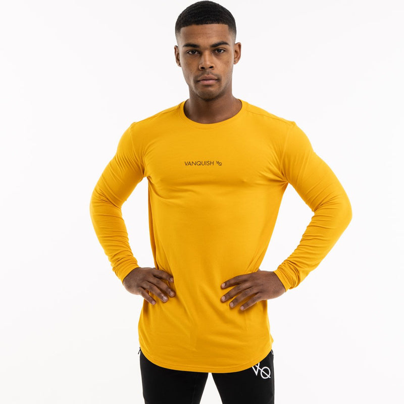 Vanquish Core Men's Yellow Long Sleeved T Shirt 3枚目の画像