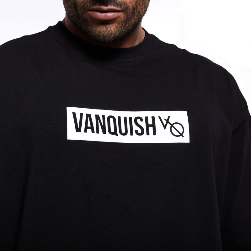 Vanquish Box Logo Black Oversized T Shirt 2枚目の画像