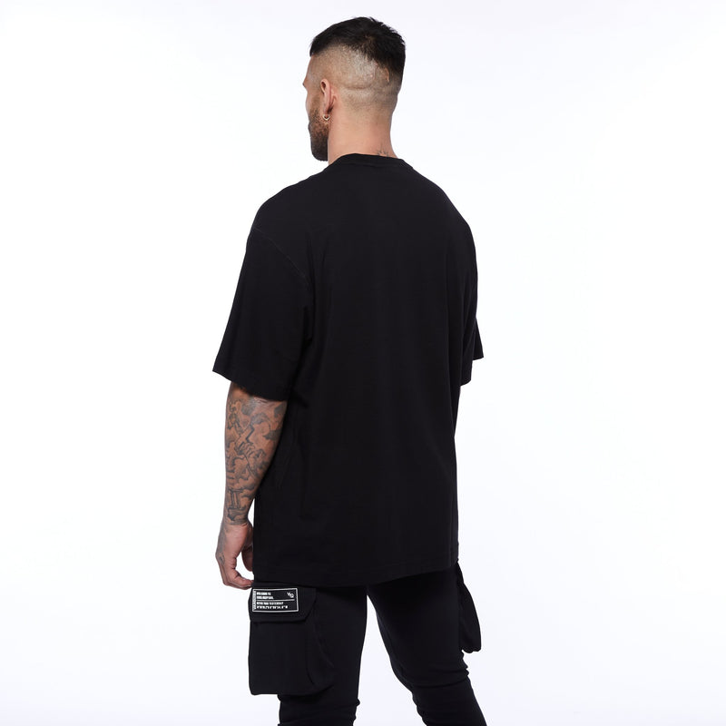 Vanquish Box Logo Black Oversized T Shirt 3枚目の画像