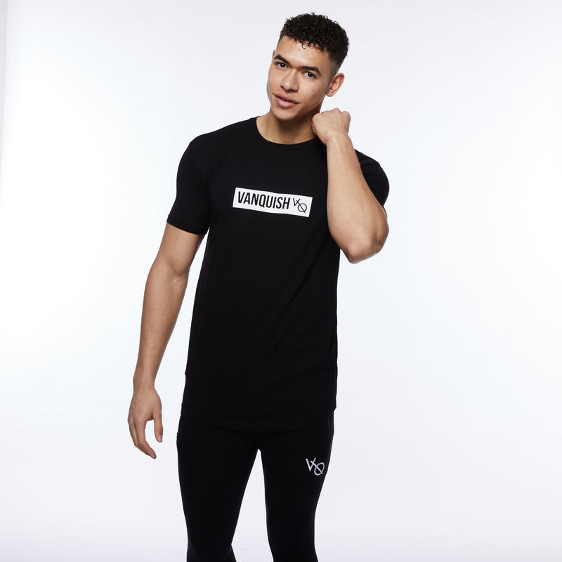 Vanquish Box Logo Black Short Sleeve T Shirt 1枚目の画像