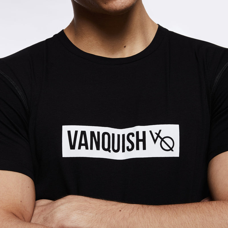 Vanquish Box Logo Black Short Sleeve T Shirt 3枚目の画像