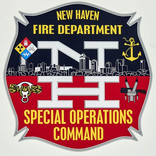 Logo for the New Haven Fire Department and Special Operations Command providing a review of RopeSafe rope safety equipment.