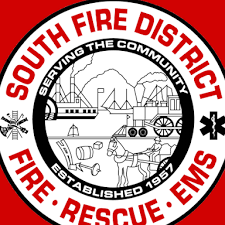 Logo for the South Fire District Fire, Rescue, and EMS, providing a testimonial for RopeSafe rope chafe guard devices.
