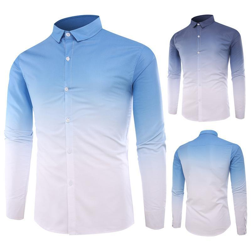 New Dyed Gradient Fashion Large Size Shirt