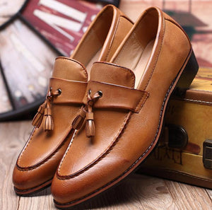 Autumn fringed casual men's leather shoes