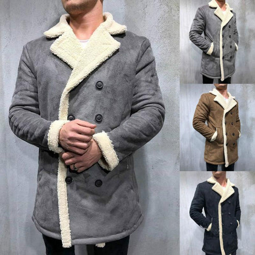 Lamb Velvet Double-Breasted Jacket