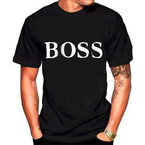 Men's T-Shirt BOSS Letter Print   T-Shirt