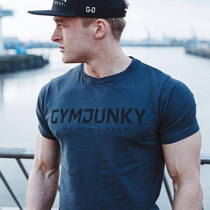 Fitness Training Muscle Thin Cotton Short Sleeve T-Shirt