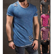 Load image into Gallery viewer, MEN's RIPPED SLIM FIT T-SHIRT