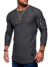 Load image into Gallery viewer, Round Neck Long Sleeve T-Shirt