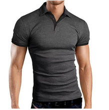 Load image into Gallery viewer, Slim Short-Sleeved Color  Shirt