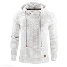 Load image into Gallery viewer, Fashion Plain Jacquard Weave Hoodie