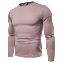 Load image into Gallery viewer, Solid Color Round Neck Long Sleeve