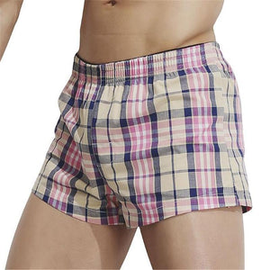 Fashion Casual Vacation Slim Plaid Elastic Waist Underwear