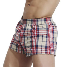 Load image into Gallery viewer, Fashion Casual Vacation Slim Plaid Elastic Waist Underwear