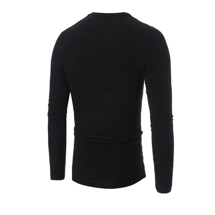 15d4c9431fa ... Load image into Gallery viewer, Fashion Youth Casual Slim Plain Round  Neck Long Sleeve Top ...