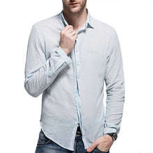 Load image into Gallery viewer, Men's Washed Cotton Long-Sleeved Shirt 7 Colors
