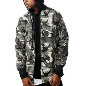 Fashion Street Style Loose Camouflage Baseball Coat