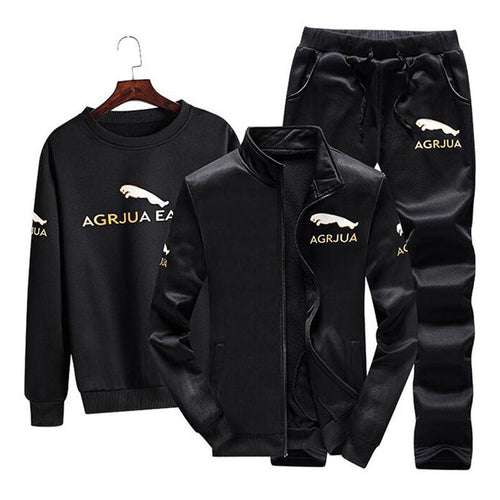 Men Windproof 3 Pieces Sport Suit