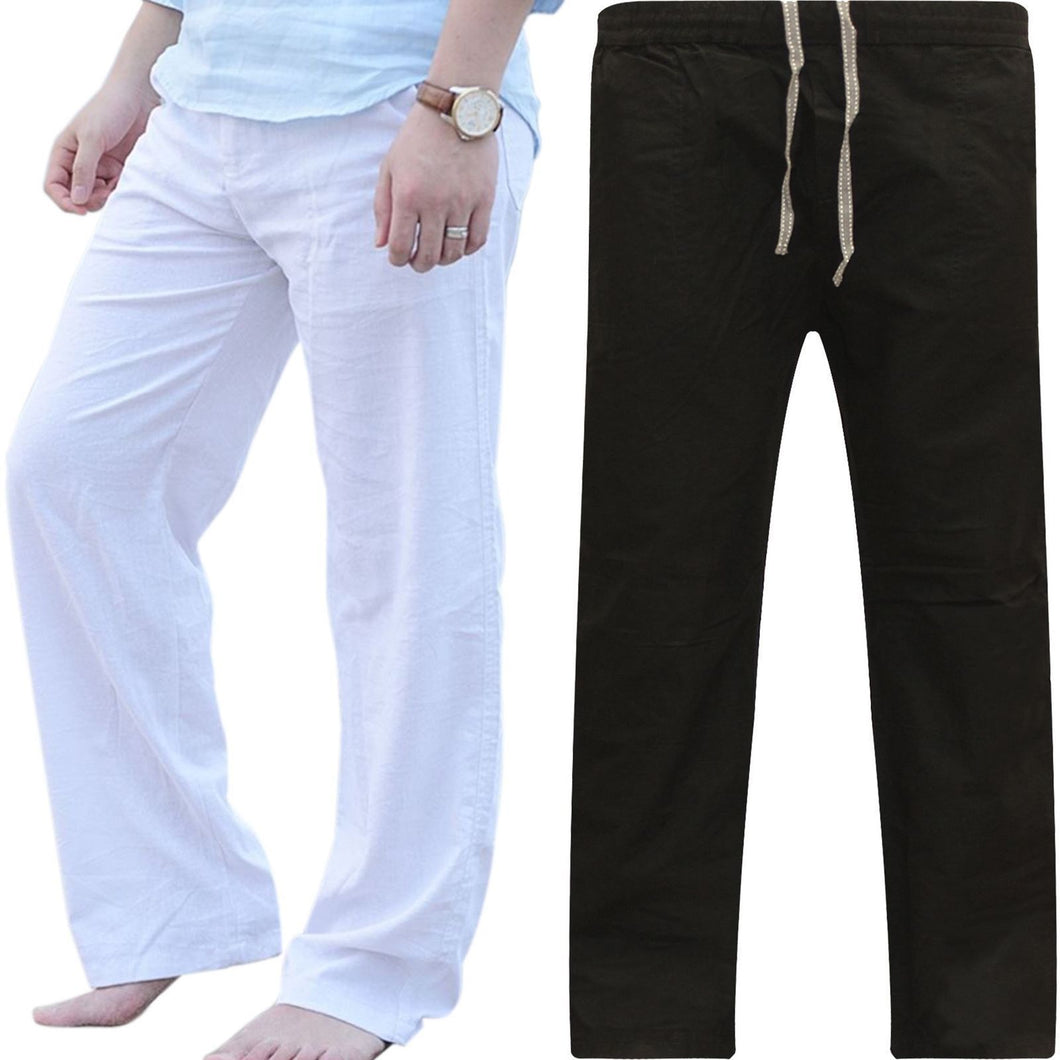Fashion Wide Leg Plain Elastic Waist Pants