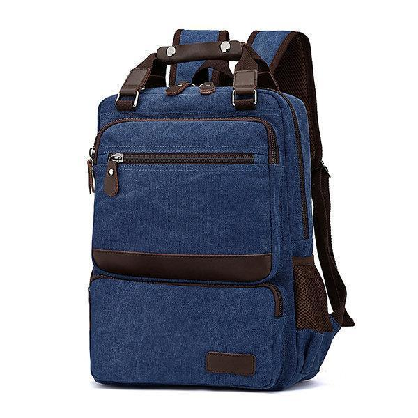 Large Capacity Canvas Outdoor 15 Inch Laptop Bag