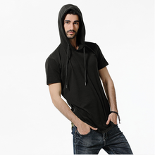 Load image into Gallery viewer, Fashion Mens Zipper Hooded T-Shirt