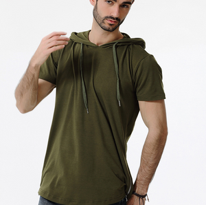 Fashion Mens Zipper Hooded T-Shirt
