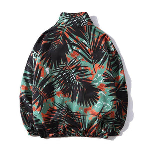 Tropic Leaf Tie-Dyed Outerwear
