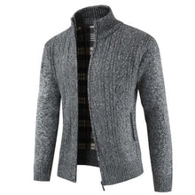 Load image into Gallery viewer, Casual Youth Fashion Thermal Zipper High Collar Long Sleeve Men Jacket Outerwear