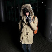 Load image into Gallery viewer, Casual Fashion Thermal Slim Plain Long Sleeve Mens Coat Outerwear