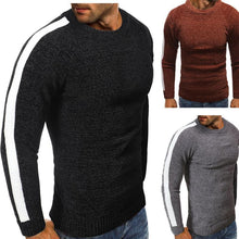 Load image into Gallery viewer, Fashion Round Collar Plain Slim Split Joint Sweater