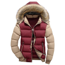 Load image into Gallery viewer, Colorblock Hooded Casual Coat