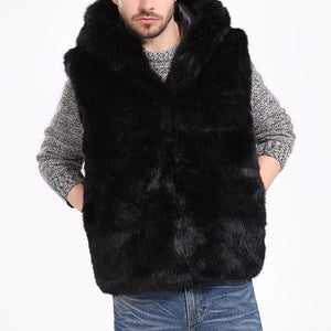 Men's Faux Fur Vest Men's Sleeveless